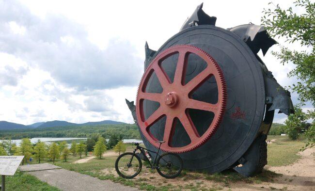 Schaufelrad mit Bike