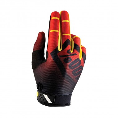 100% Ridefit Glove corpo red 2016