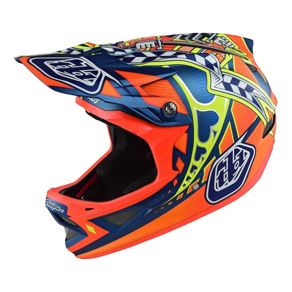Troy Lee D3 longshot orange 2017