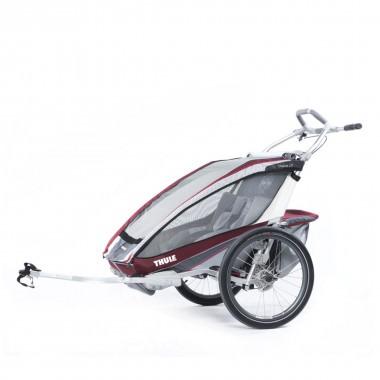 Thule Chariot CX2 mit Fahrradset burgundrot 2016