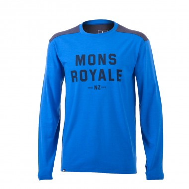 Mons Royale Riders Crew bay blue/charcoal 15/16