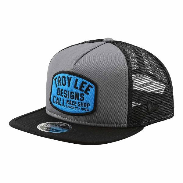 Troy Lee Blockworks Snapback Hat storm gray / blue 2019