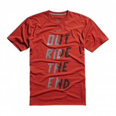 Fox Racing Out Ride Tech Tee heather flame red 2015