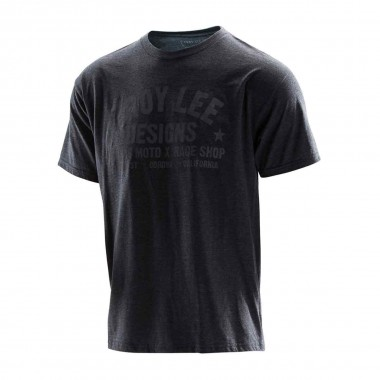 Troy Lee Raceshop Tee heather charcoal/grey 2016