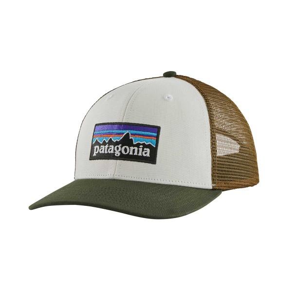 Patagonia P-6 Logo Trucker Hat white/kelp forest 2021