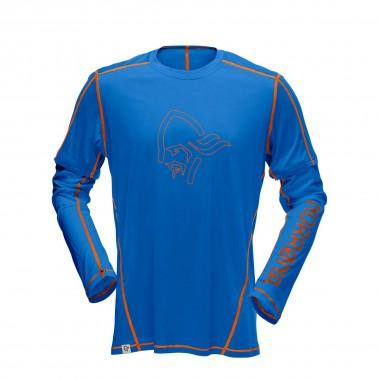 Norrona /29 tech long sleeve Shirt electric blue/pure orange 2016