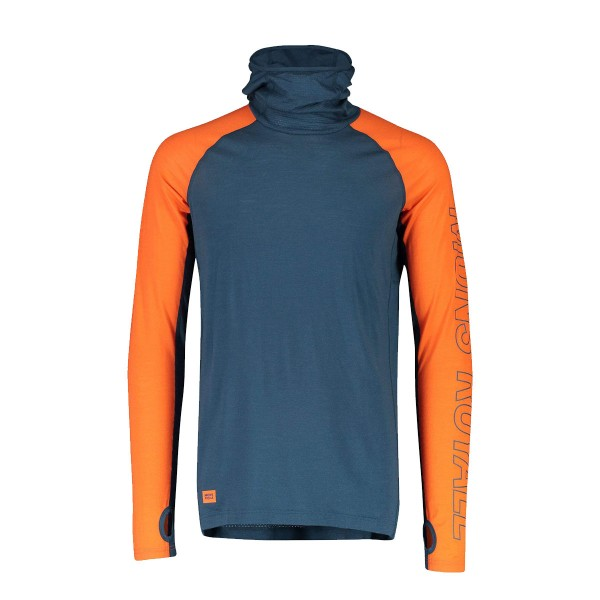 Mons Royale Temple Tech Flex Hoody atlantic/orange 20/21