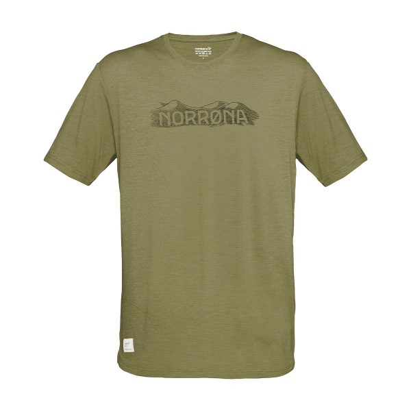 Norrona svalbard wool T-Shirt olive/caviar 2021