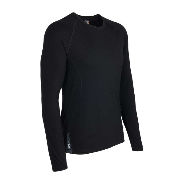 Icebreaker Sprint Longsleeve Crewe black/monsoon 14/15
