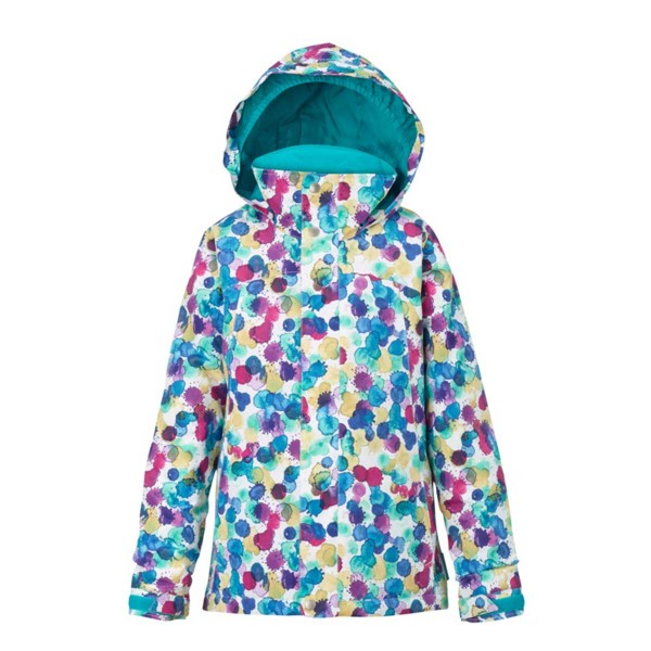 Burton Elodie Jacket girls rainbow drops 16/17