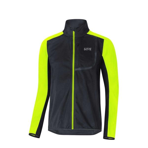 Gore Wear C3 Gore Windstopper Jacke black/neon yellow 18/19