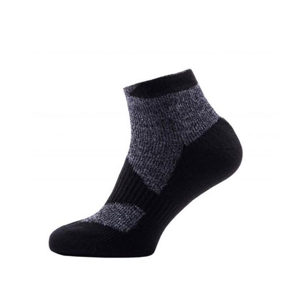 Sealskinz Walking Thin Socklet dark grey marls/black wasserdichte Socken