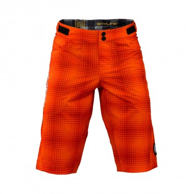 Troy Lee Skyline Short plaid orange 2016