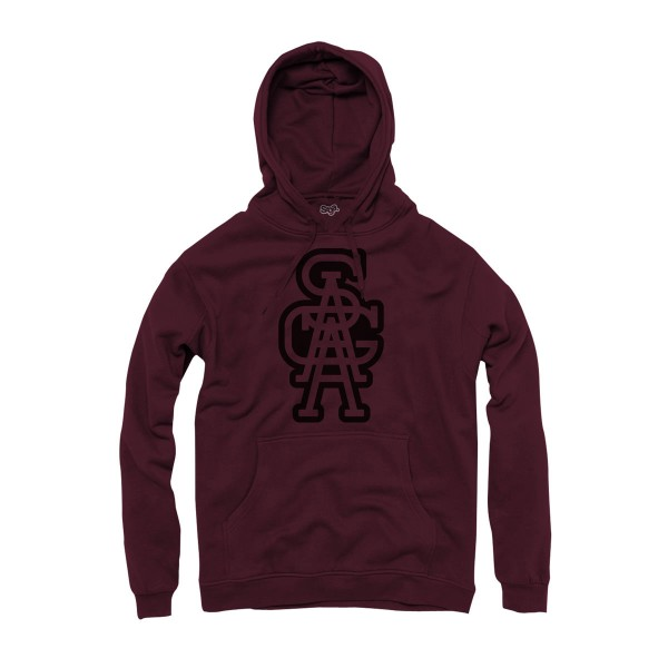 Saga Outerwear Academics Graphic Pullover maroon