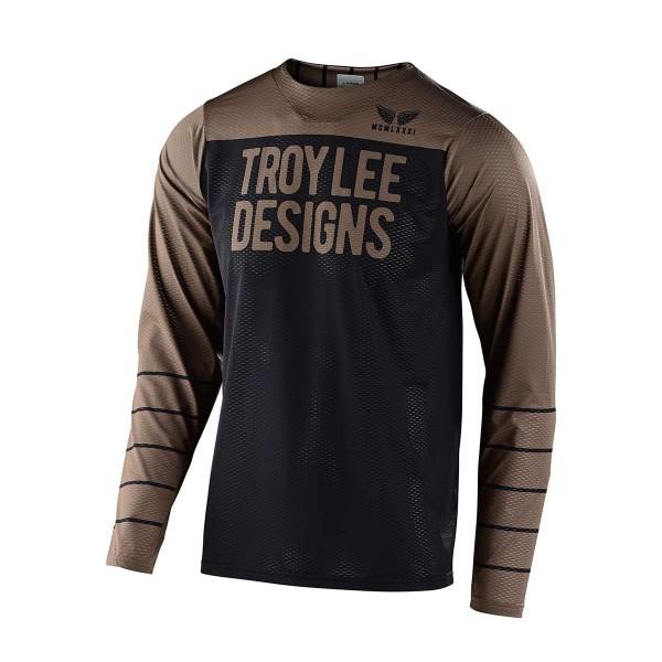Troy Lee Skyline Air LS Jersey pine stripe black / walnut 2020