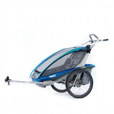 Thule Chariot CX2 mit Fahrradset blau 2016
