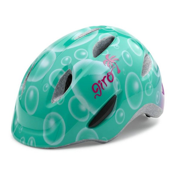 Giro Scamp kids turqoise/magenta bubbles 2017