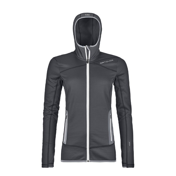 Ortovox Fleece Hoody wms black steel 20/21
