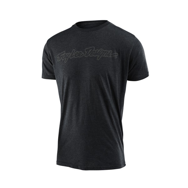 Troy Lee Signature Tee heather charcoal 2020
