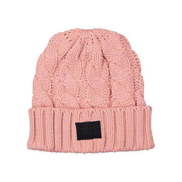 Mons Royale Rope Tow Beanie dusty pink 20/21