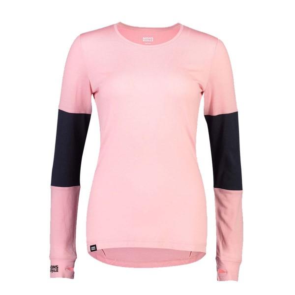 Mons Royale Cornice LS Shirt wms rosewater/iron 19/20