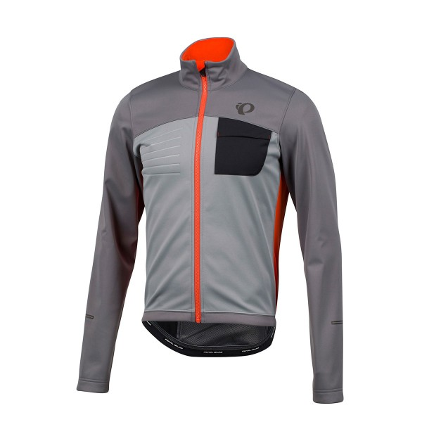 Pearl Izumi Select Escape Softshell Jacket smoked pearl/orange 17/18