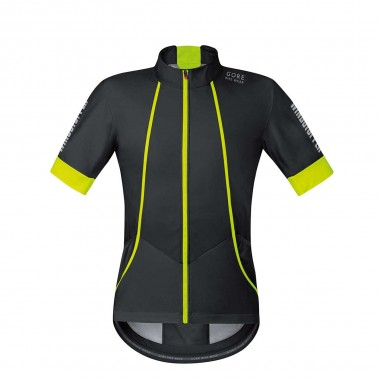 Gore Oxygen Windstopper Softshell Trikot black/neon 2016