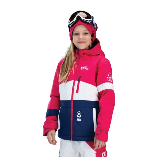 Picture Spice Jacket kids pink white blue 15/16