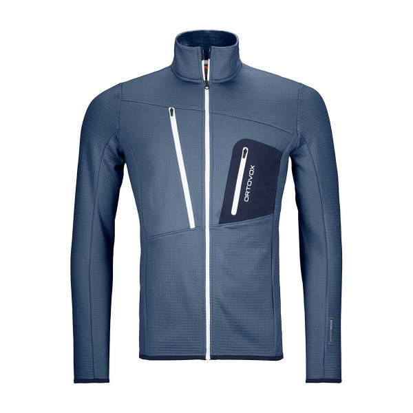 Ortovox Fleece Grid Jacket night blue 21/22