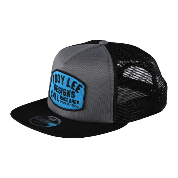 Troy Lee Blockworks Camo Snapback Hat graphite 2020