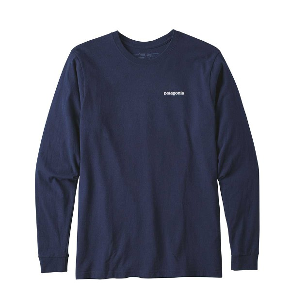 Patagonia Long-Sleeved P-6 Logo Responisbili-Tee navy 2018