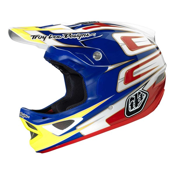 Troy Lee D3 speed CP blue/white 2014