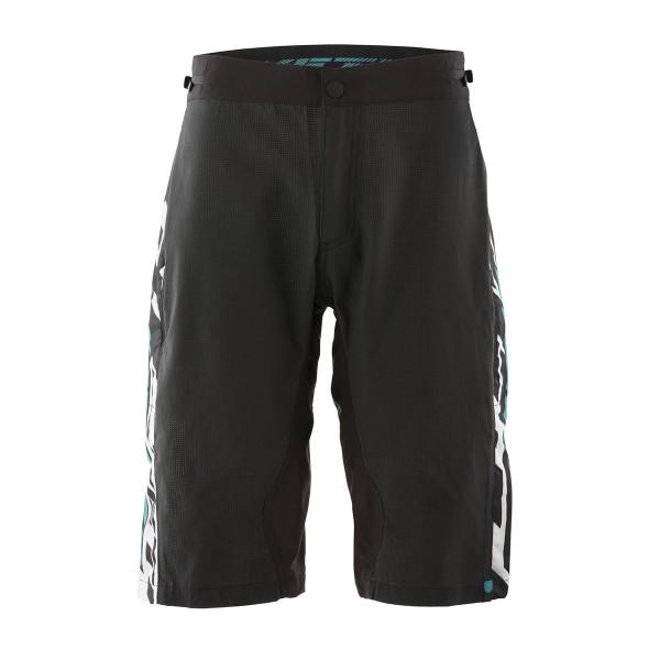 Yeti WC Replica Short matrix black / white / turquoise 2020