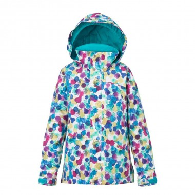Burton Elodie Jacket girls rainbow drops 16/17