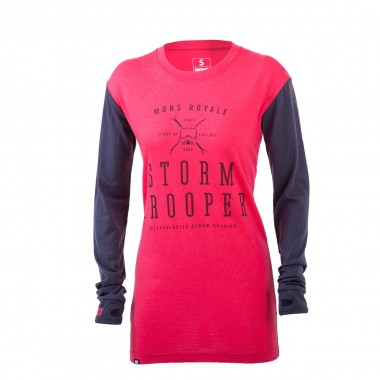 Mons Royale Boyfriend LS wms hot pink/charcoal 15/16