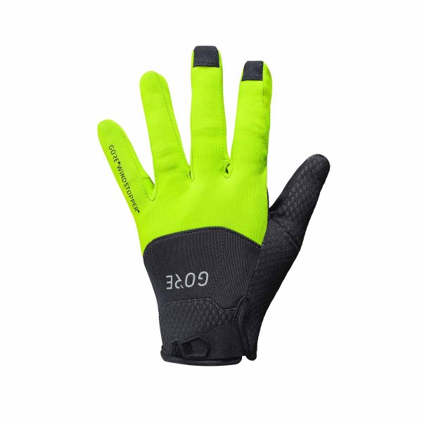 Gore Wear C5 Gore Windstopper Handschuhe black / neon yellow 18/19