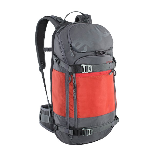 EVOC FR PRO 20L carbon grey/chili red 20/21