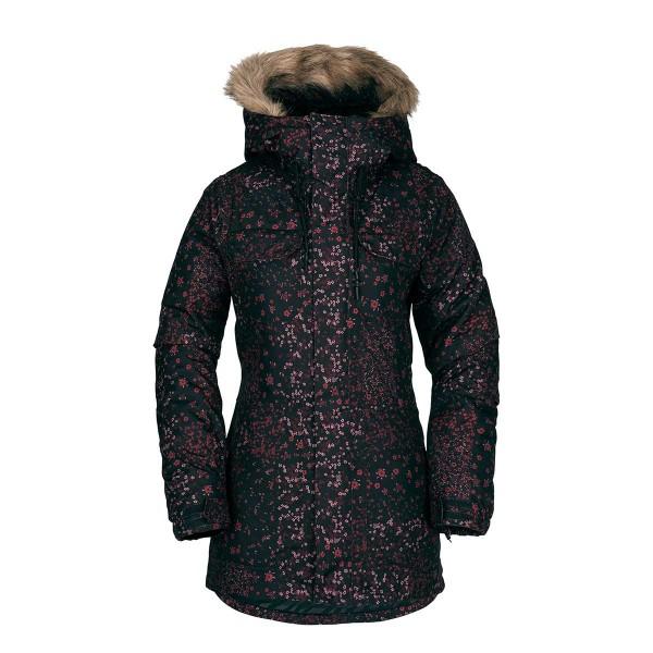 Volcom Schadow Ins Jacket wms black floral 18/19