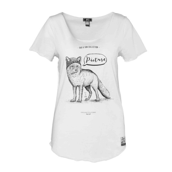 Picture Fox T-Shirt wms white 17/18