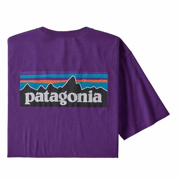 Patagonia P-6 Logo Organic T-Shirt purple 20/21