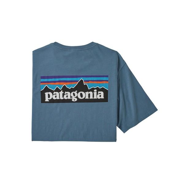 Patagonia P-6 Logo Organic T-Shirt pigeon blue 2020