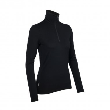 Icebreaker Tech Top Long Sleeve Half Zip wms black 15/16