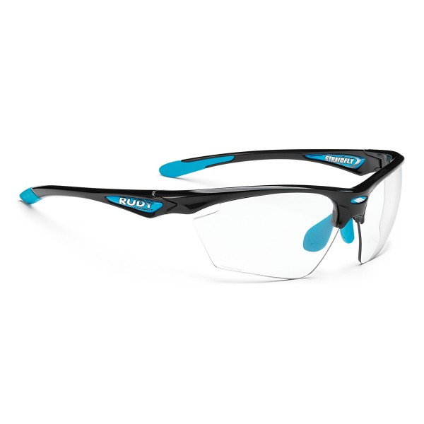Rudy Project Stratofly black gloss/light blue Photoclear