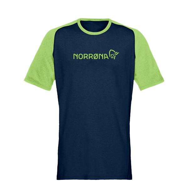 Norrona fjora equaliser Lightweight Tee foliage/indigo 2021