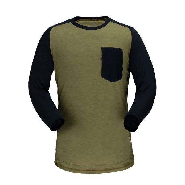Norrona skibotn Wool 3/4 T-Shirt olive drab 2020