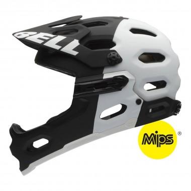 Bell Super 2R Mips matte black/white aggression 2016