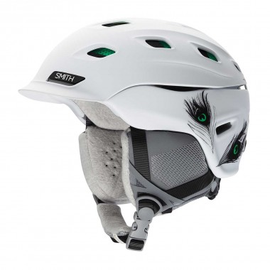 Smith Vantage wms matte white feathers 15/16