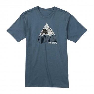 Burton Adventure Co Short Sleeve T Shirt blue mirage 16/17
