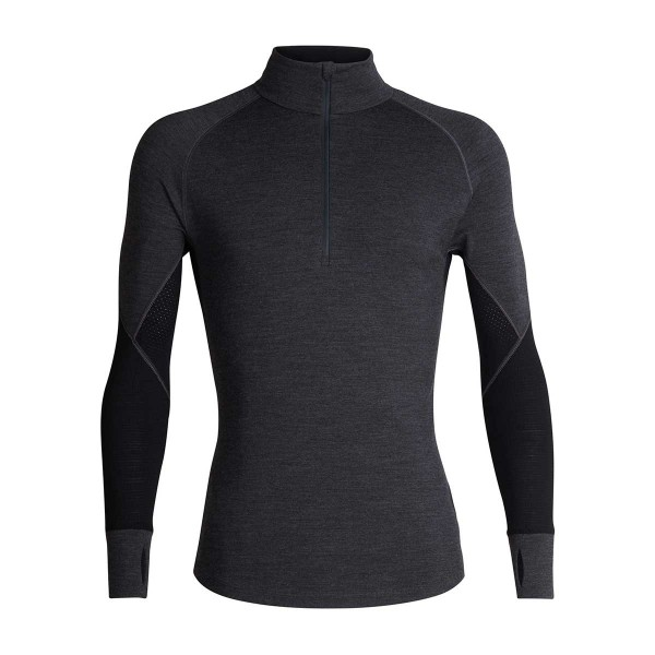 Icebreaker 260 Zone LS Half Zip jet/heather/black 20/21