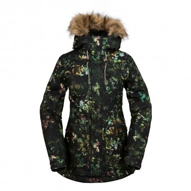 Volcom Shadow Ins Jacket wms blk floral 16/17
